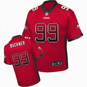 Nike 49ers #99 DeForest Buckner Red Team Color Men's Stitched NFL Elite Drift Fashion Jersey