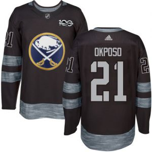 Sabres #21 Kyle Okposo Black 1917-2017 100th Anniversary Stitched NHL Jersey