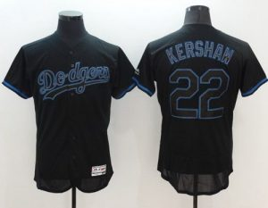 Dodgers #22 Clayton Kershaw Black Fashion Flexbase Authentic Collection Stitched MLB Jersey