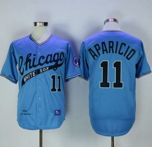 Mitchell And Ness 1968 White Sox #11 Luis Aparicio Blue Throwback Stitched MLB Jersey