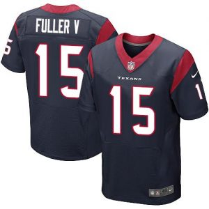 Nike Texans #15 Will Fuller V Navy Blue Team Color Men's Stitched NFL Elite Jersey