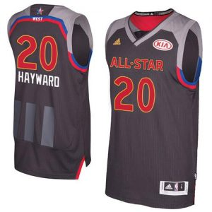 Jazz #20 Gordon Hayward Charcoal 2017 All Star Stitched NBA Jersey