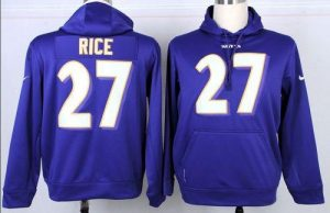Nike Ravens #5 Joe Flacco Purple Player Pullover NFL Hoodie