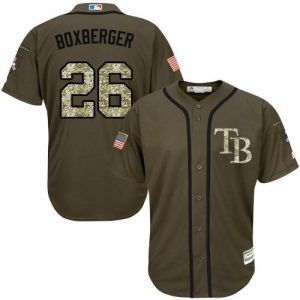Rays #26 Brad Boxberger Green Salute to Service Stitched MLB Jersey