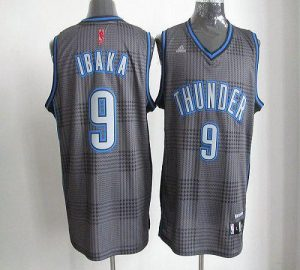 Thunder #9 Serge Ibaka Black Rhythm Fashion Stitched NBA Jersey