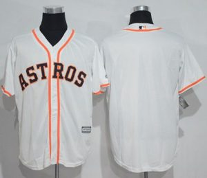 Astros Blank White New Cool Base Stitched MLB Jersey