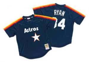 Mitchell And Ness 1988 Astros #34 Nolan Ryan Navy Blue Throwback Stitched MLB Jersey