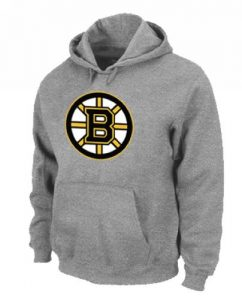 NHL Boston Bruins Big & Tall Logo Pullover Hoodie Grey
