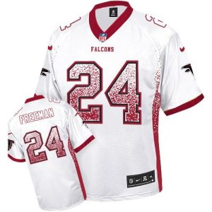 Nike Falcons #24 Devonta Freeman White Men's Stitched NFL Elite Drift Fashion Jersey
