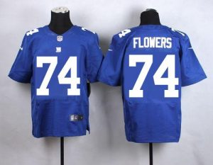 Nike Giants #74 Ereck Flowers Royal Blue Team Color Men's Stitched NFL Elite Jersey