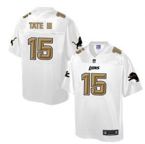 Nike Lions #15 Golden Tate III White Men's NFL Pro Line Fashion Game Jersey