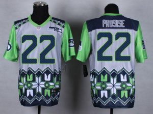 Nike Seahawks #22 C. J. Prosise Grey Men's Stitched NFL Elite Noble Fashion Jersey
