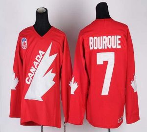 Team Canada 1991 Olympic #7 Ray Bourque Red CCM Throwback Stitched NHL Jersey
