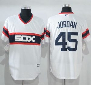 White Sox #45 Michael Jordan White New Cool Base Alternate Home Stitched MLB Jersey