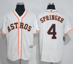 Astros #4 George Springer White New Cool Base Stitched MLB Jersey