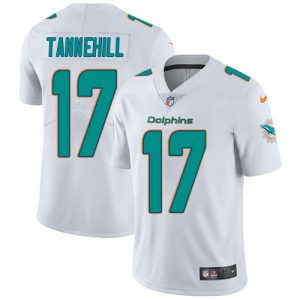 Nike Dolphins #17 Ryan Tannehill White Men's Stitched NFL Vapor Untouchable Limited Jersey