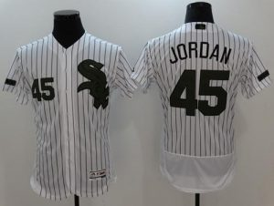 White Sox #45 Michael Jordan White(Black Strip) Flexbase Authentic Collection Memorial Day Stitched MLB Jersey