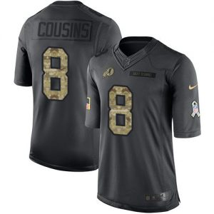 Nike Redskins #8 Kirk Cousins Black Men's Stitched NFL Limited 2016 Salute to Service Jersey