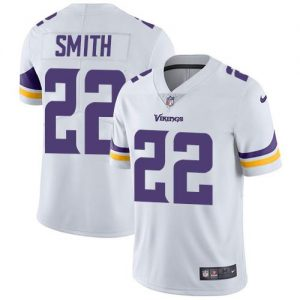 Nike Vikings #22 Harrison Smith White Men's Stitched NFL Vapor Untouchable Limited Jersey