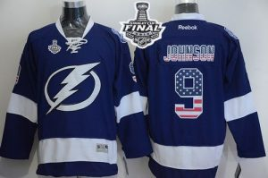Lightning #9 Tyler Johnson Blue USA Flag Fashion 2015 Stanley Cup Stitched NHL Jersey