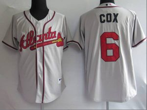 Braves #6 Bobby Cox Stitched Grey MLB Jersey
