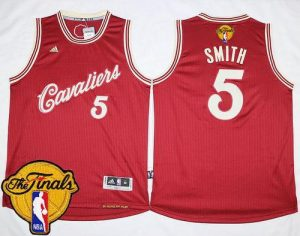 Cavaliers #5 J.R. Smith Red 2015-2016 Christmas Day The Finals Patch Stitched NBA Jersey