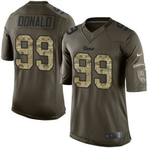 Nike Rams #99 Aaron Donald Green Men's Stitched NFL Limited Salute to Service Jersey