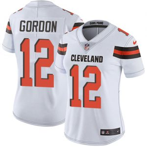 fb45b96ed09 Nike Browns  12 Josh Gordon White Women s Stitched NFL Vapor Untouchable  Limited Jersey