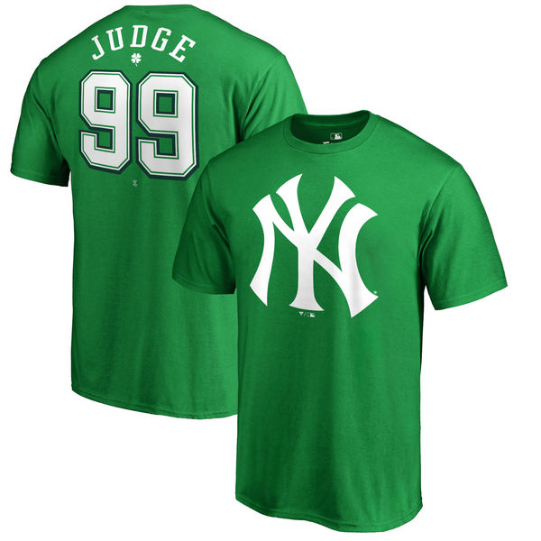 Aaron Judge New York Yankees Fanatics Branded St. Patrick's Day Backer T-Shirt