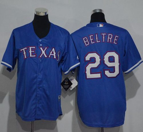 Rangers #29 Adrian Beltre Blue Cool Base Stitched Youth MLB Jersey